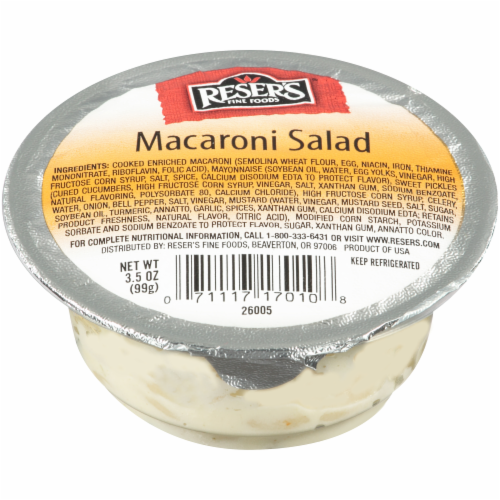 Reser's Macaroni Salad Singles Perspective: front