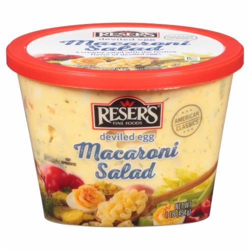 Reser's Deviled Egg Macaroni Salad Perspective: front