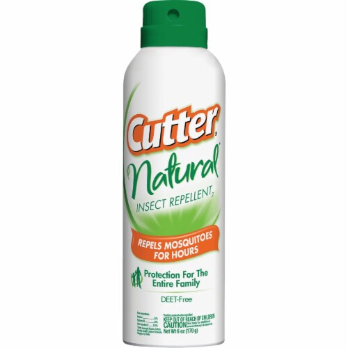 Cutter Natural 6 Oz. Insect Repellent Aerosol Spray HG-96179 Perspective: front