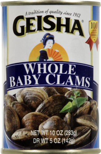 Geisha Whole Baby Clams Perspective: front