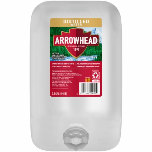 Arrowhead Distilled Water Perspective: front