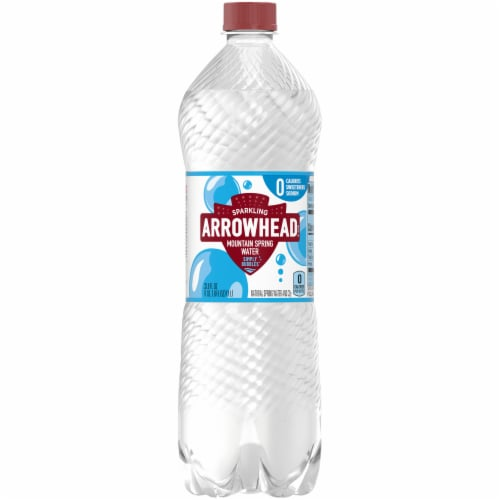 Arrowhead Sparkling Original Mountain Spring Water Perspective: front