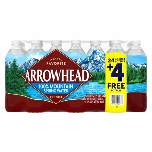 Arrowhead 100% Mountain Spring Water Perspective: front