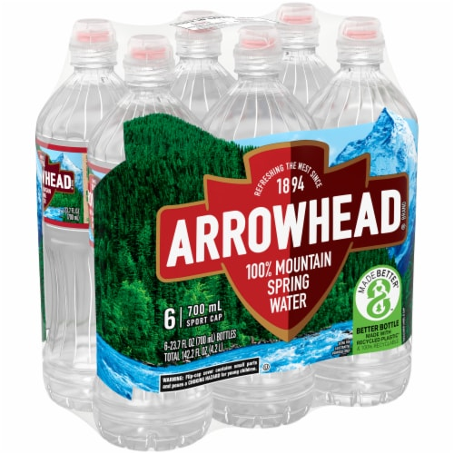 Arrowhead Mountain Spring Bottled Water Perspective: front