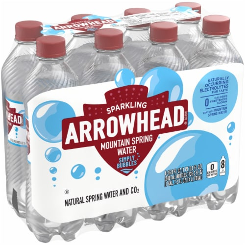 Arrowhead Simply Bubbles Sparkling Mountain Spring Water Perspective: front