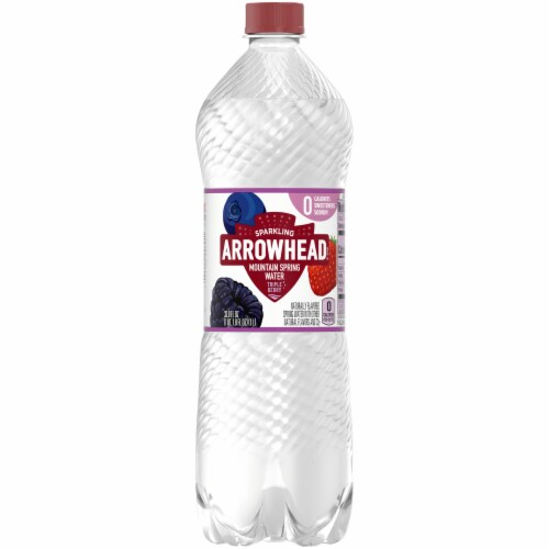 Arrowhead Triple Berry Sparkling Mountain Spring Water Perspective: front