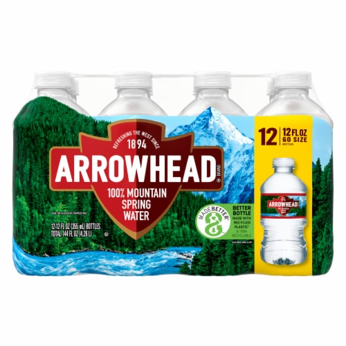 Arrowhead Mountain Spring Water Perspective: front