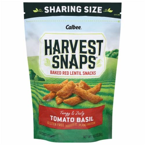 Harvest Snaps Tomato Basil Red Lentil Snack Crisps Perspective: front
