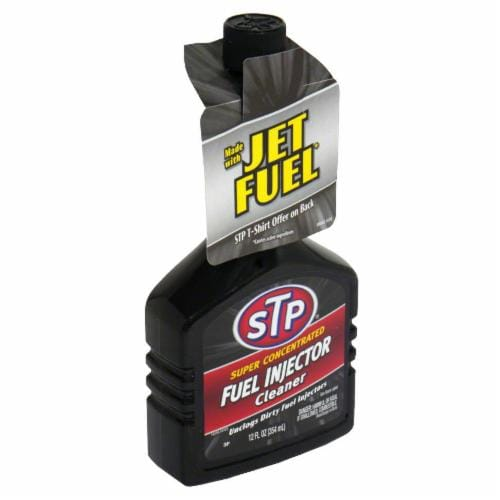 STP Super Concentrated Fuel Injector Cleaner Perspective: front