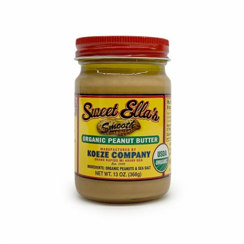 Sweet Ella's Smooth Organic Peanut Butter Perspective: front