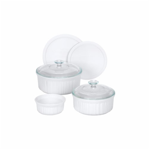 Corningware 1048149 French White 7-Pc Set Perspective: front