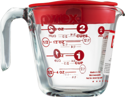 Pyrex Covered Measuring Cup Perspective: front