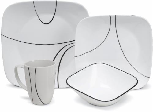 Corelle Simple Lines Dinnerware Set Perspective front  sc 1 st  Fred Meyer & Fred Meyer - Corelle Simple Lines Dinnerware Set