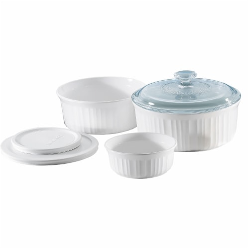 Corningware French White 6-Pc Set Perspective: front