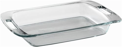 Pyrex Easy Grab Oblong Baking Dish - Clear Perspective: front