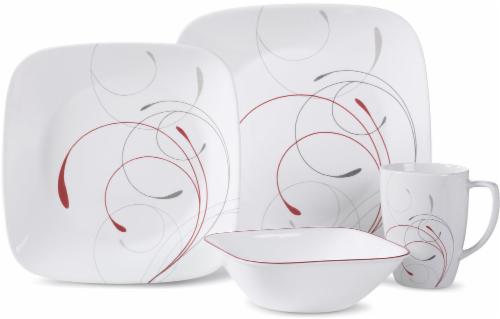 Corelle® Square Splendor Dinnerware Set - White Perspective: front