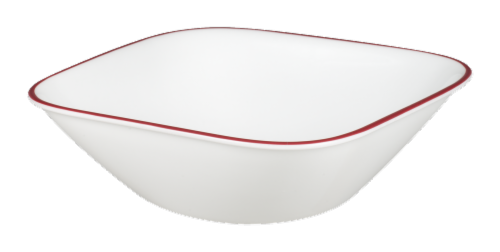Corelle® Splendor Soup and Cereal Bowl - White/Red Perspective: front