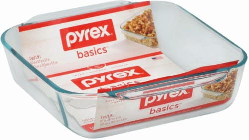 Pyrex Basics Square Baking Dish - Clear Perspective: front
