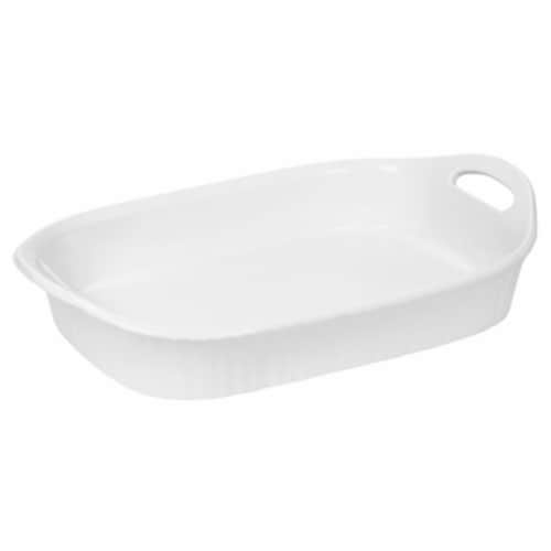 Corningware 3 QT French White III Oblong Casserole Dish - Pack Of 2 Perspective: front