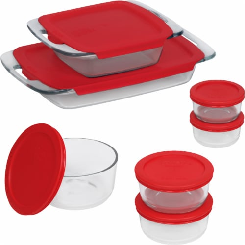 Pyrex Easy Grab Bake 'n Store Set - Red Perspective: front