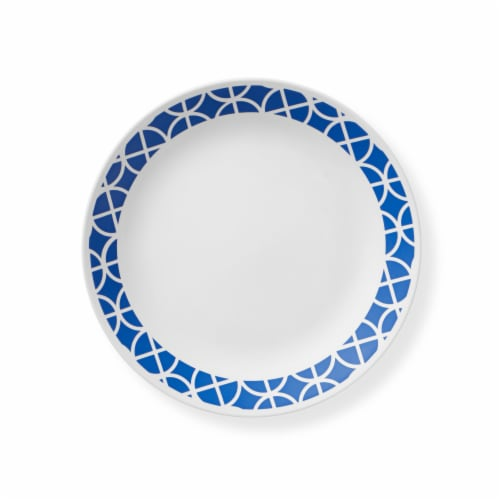 Corelle® Dinner Plate - White/Cobalt Perspective: front