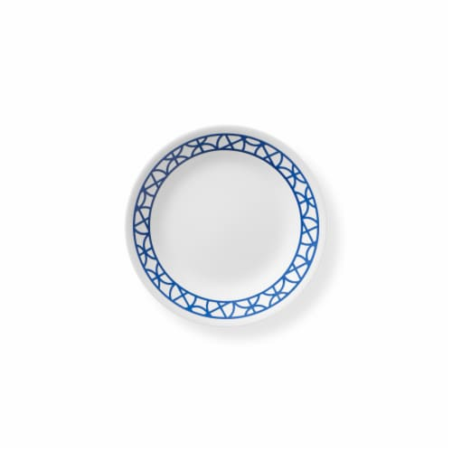 Corelle® Circles Plate - Cobalt/White Perspective: front