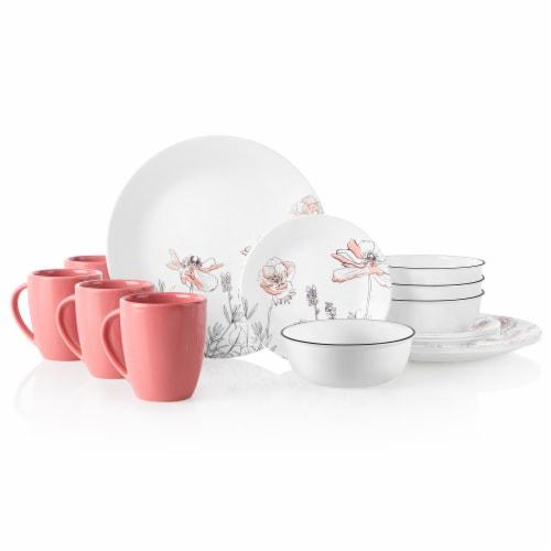 Corelle® Dinnerware Set - Poppy Print Perspective: front