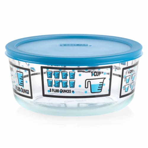 Pyrex Kitchen Conversions Glassware - Marine Blue Perspective: front