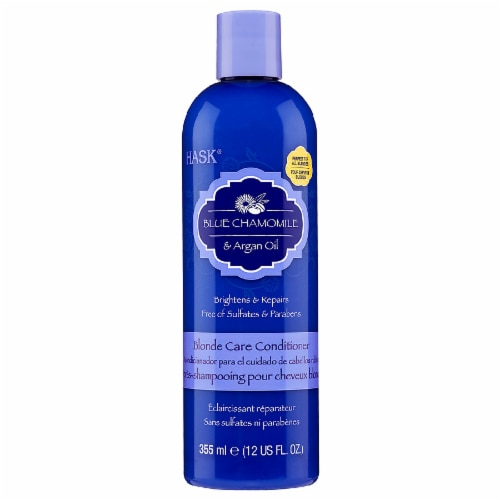 Hask Blue Chamomile and Argan Oil Blonde Care Conditioner Perspective: front