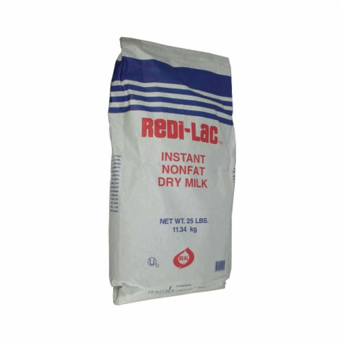 Redi Lac Instant Non Fat Dry Milk Crystals, 25 Pound -- 1 each Perspective: front