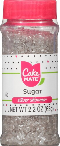 Cake Mate Silver Sugar Decors Perspective: front
