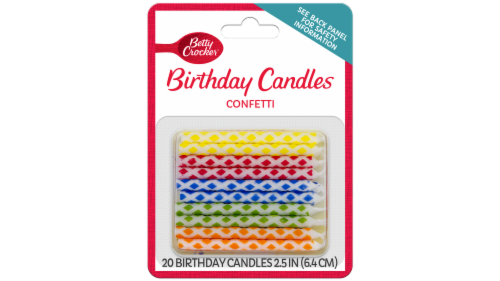 Betty Crocker Confetti Birthday Candles Perspective: front