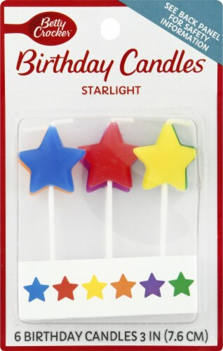 Betty Crocker Star Light Birthday Candles Perspective: front