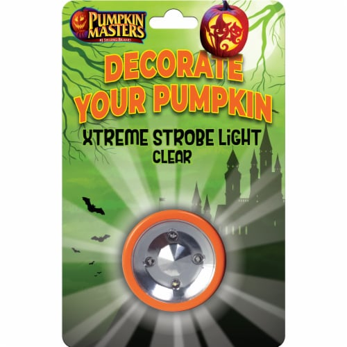 Pumpkin Masters Xtreme Strobe Light - Clear Perspective: front