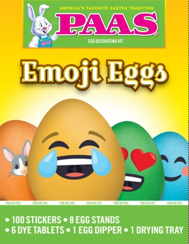 PAAS® Emoji Egg Decorating Kit Perspective: front