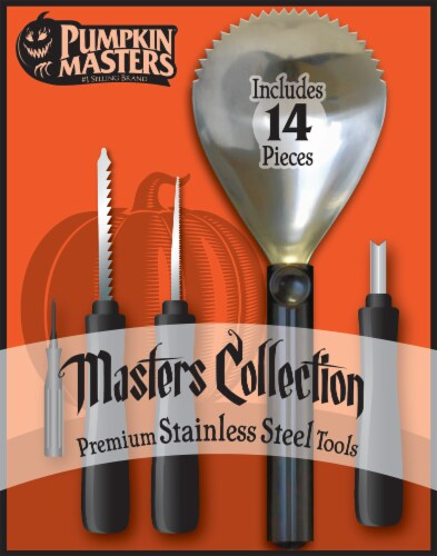 Pumpkin Masters Masters Collection Stainless Steel Carving Tool Kit Perspective: front
