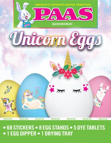 PAAS® Unicorn Eggs Egg Decorating Kit Perspective: front