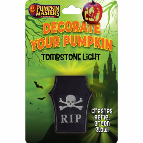 Pumpkin Masters Tombstone Light Decoration Perspective: front