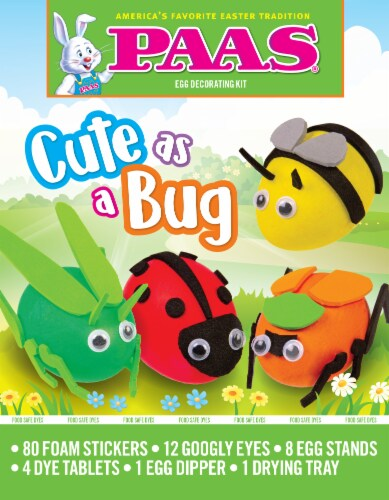PAAS® Cute As A Bug Egg Decorating Kit Perspective: front