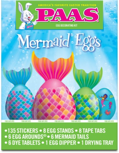 PAAS® Mermaid Decorating Eggs Kit Perspective: front
