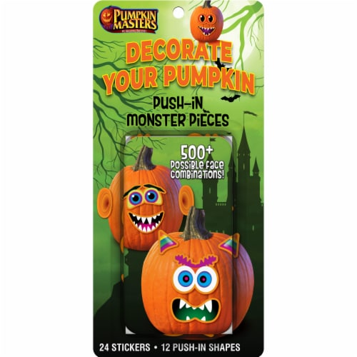 Pumpkin Masters Push in Monster Pieces Decorating Kit Perspective: front