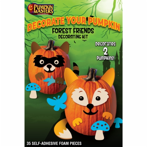 Pumpkin Masters Forest Friends Decorating Kit Perspective: front