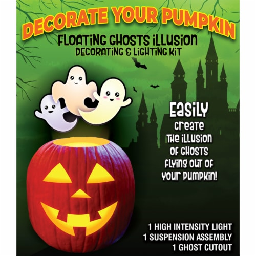 Pumpkin Masters Floating Ghost Decorating Kit Perspective: front