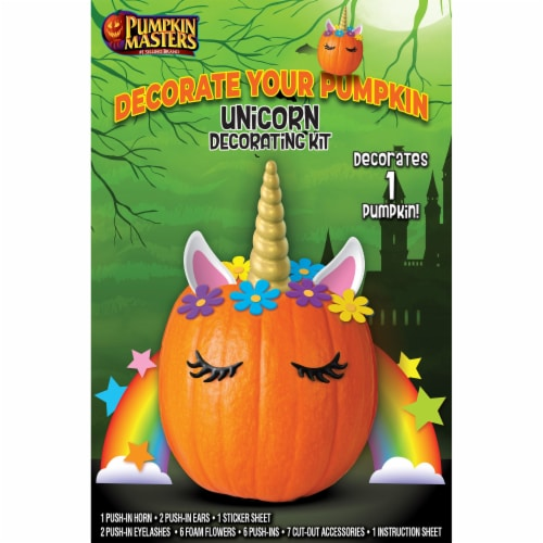 Pumpkin Masters Unicorn Decorating Kit Perspective: front