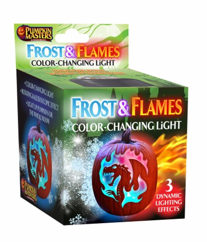Pumpkin Masters Frost & Flames Light Decoration Perspective: front