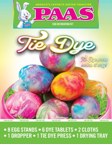 PAAS® Tie Dye Egg Decorating Kit Perspective: front