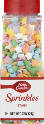 Betty Crocker Sprinkables Multicolred Stars Sprinkles Perspective: front