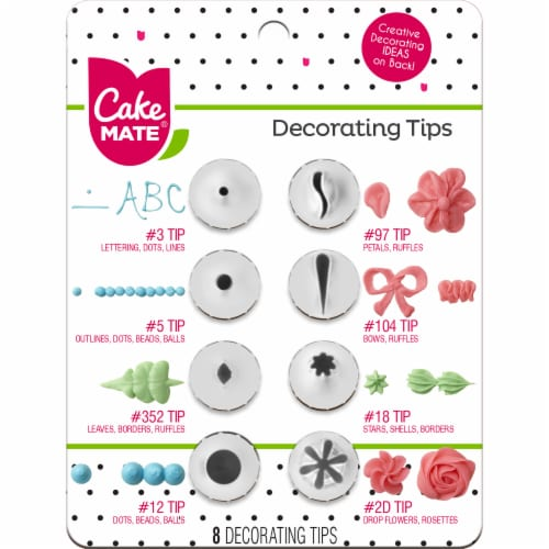 Cake Mate Decorating Tips Variety Pack Perspective: front