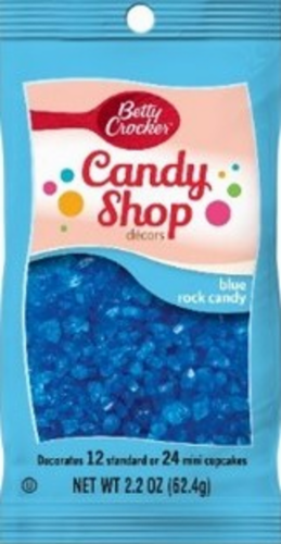 Betty Crocker Candy Shop Blue Rock Candy Decors Perspective: front