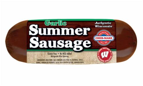 Cher-Make Garlic Summer Sausage Perspective: front